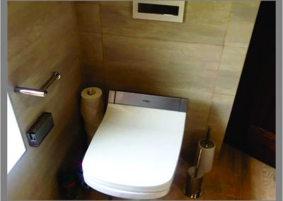 Gerberit Toilet with Duravit senso was toilet seat